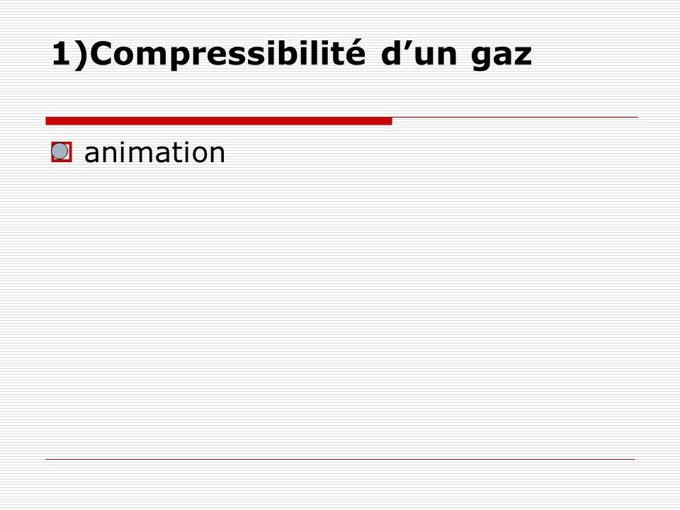 1)Compressibilité d'un gaz