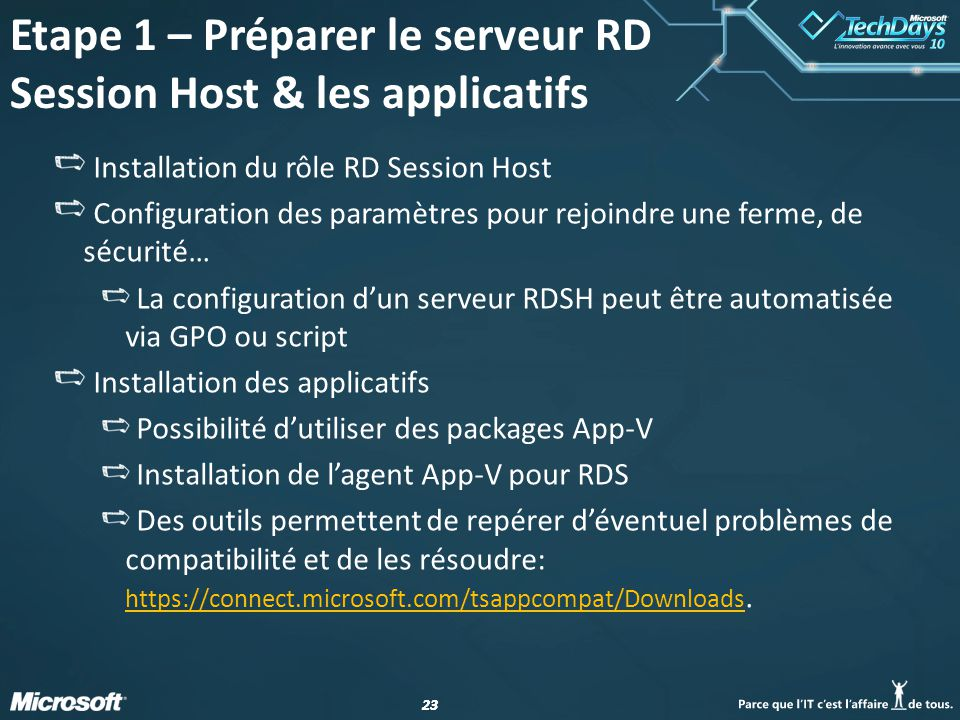 Etape 1 – Préparer le serveur RD Session Host & les applicatifs