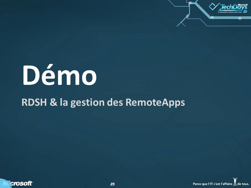 RDSH & la gestion des RemoteApps