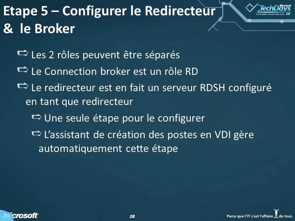 Etape 5 – Configurer le Redirecteur & le Broker