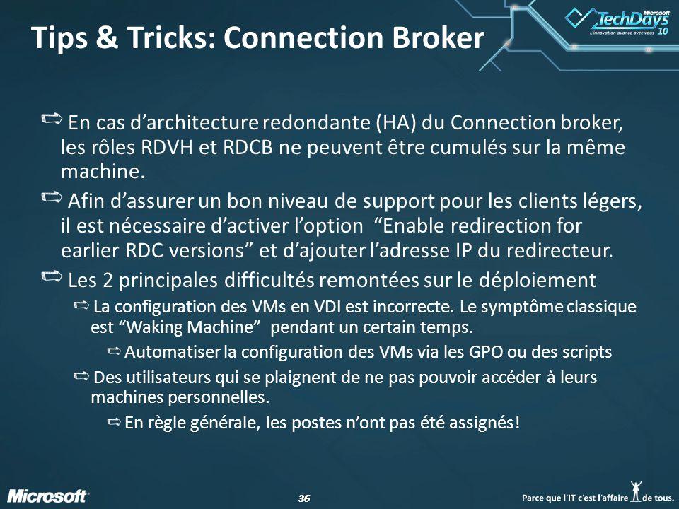 Tips & Tricks: Connection Broker