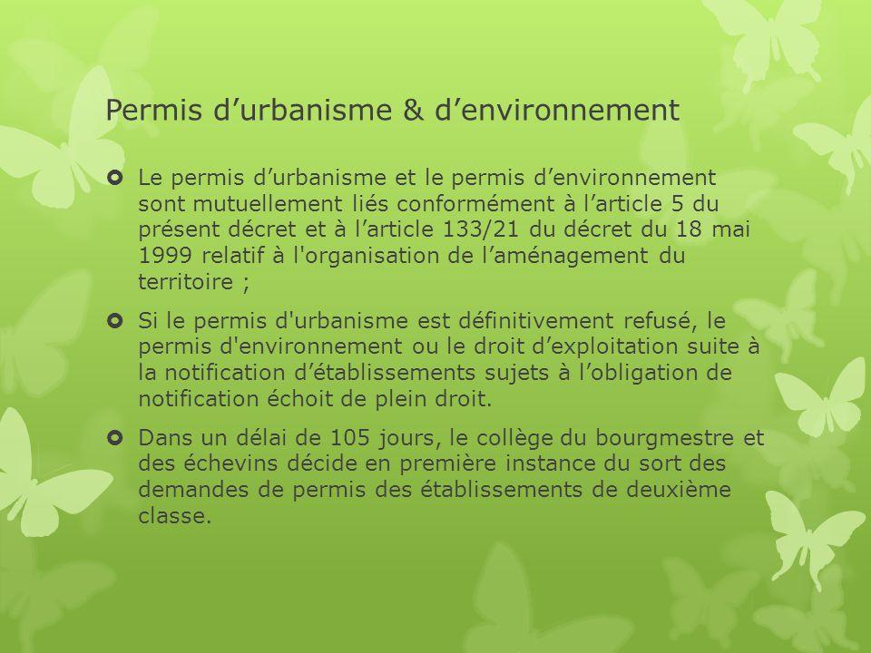Permis d'urbanisme & d'environnement