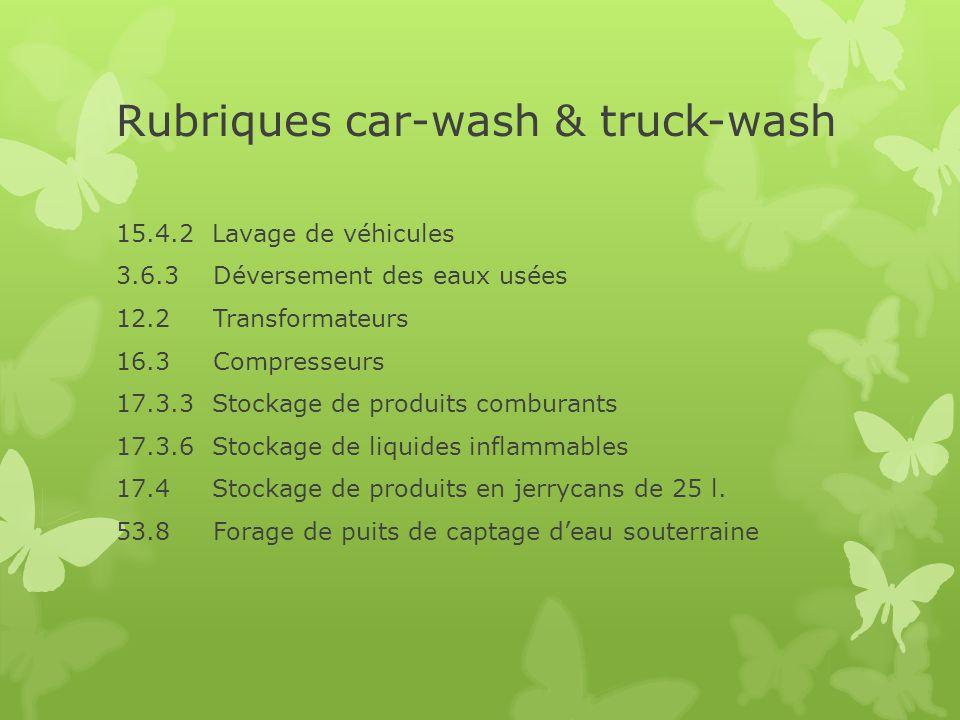 Rubriques car-wash & truck-wash