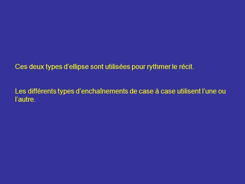 Ces deux types d'ellipse sont utilisées pour rythmer le récit.