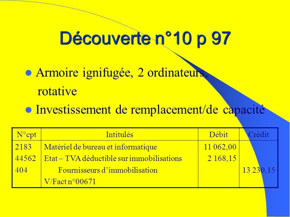 Découverte n°10 p 97 Armoire ignifugée, 2 ordinateurs, rotative