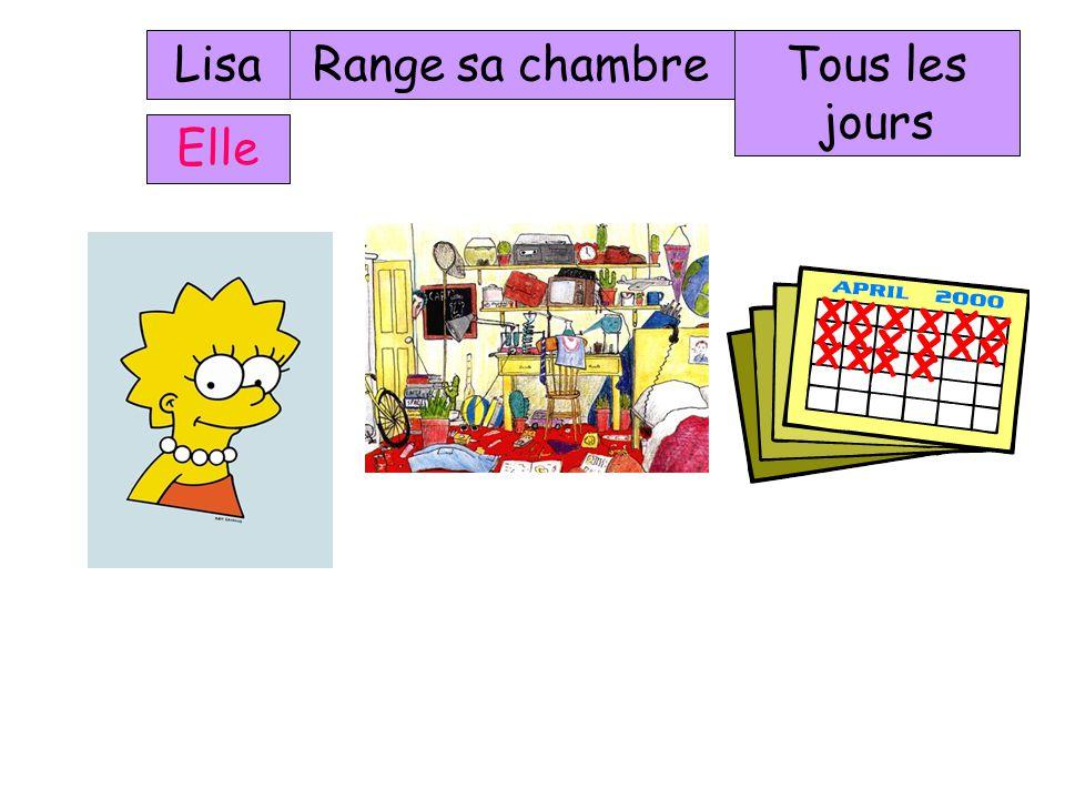 Lisa Range sa chambre Tous les jours Elle