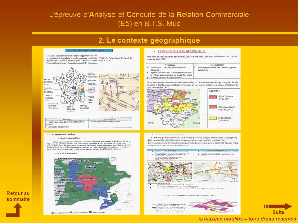 2. Le contexte géographique