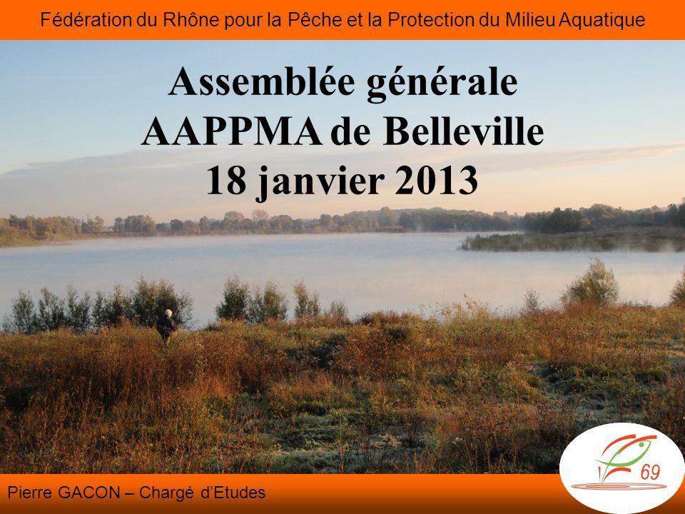 Assemblée générale AAPPMA de Belleville 18 janvier 2013