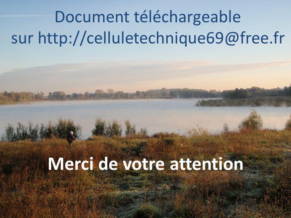 Document téléchargeable sur http://celluletechnique69@free.fr