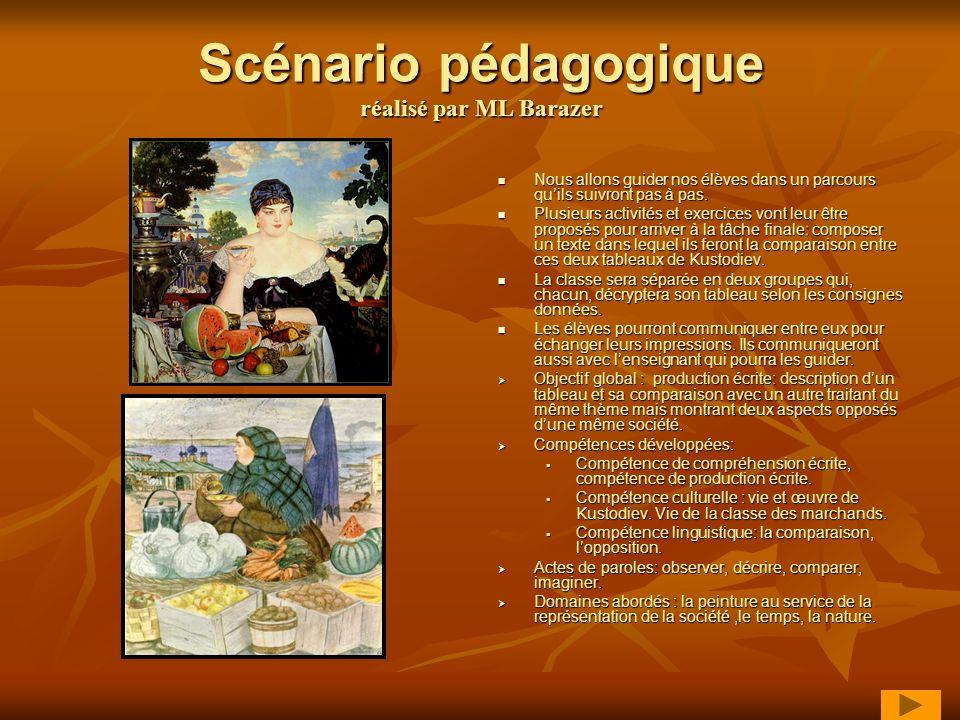 Scénario pédagogique réalisé par ML Barazer