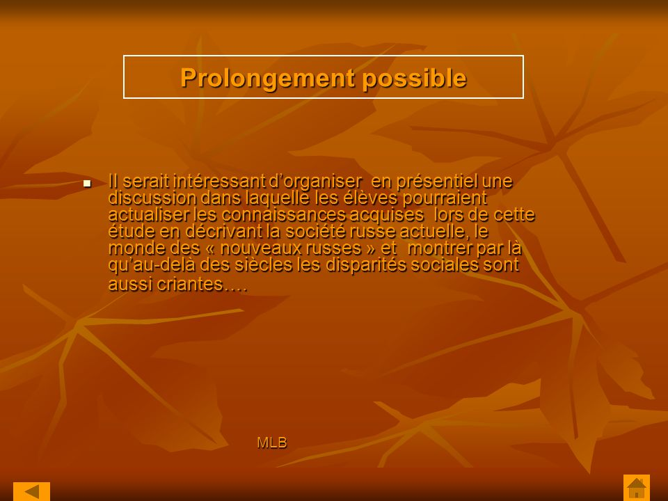 Prolongement possible