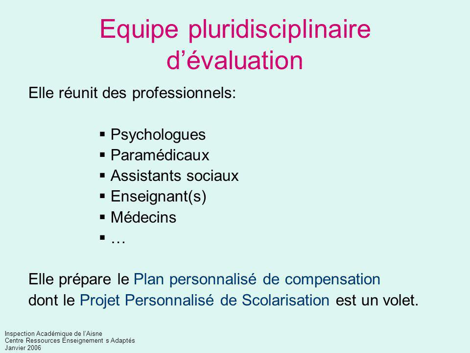 Equipe pluridisciplinaire d'évaluation