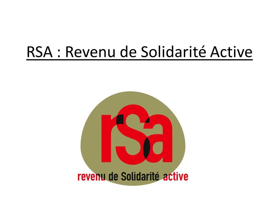 RSA : Revenu de Solidarité Active