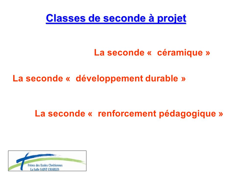 Classes de seconde à projet