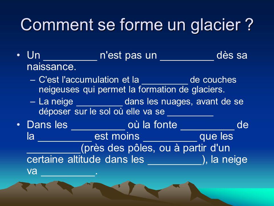 Comment se forme un glacier