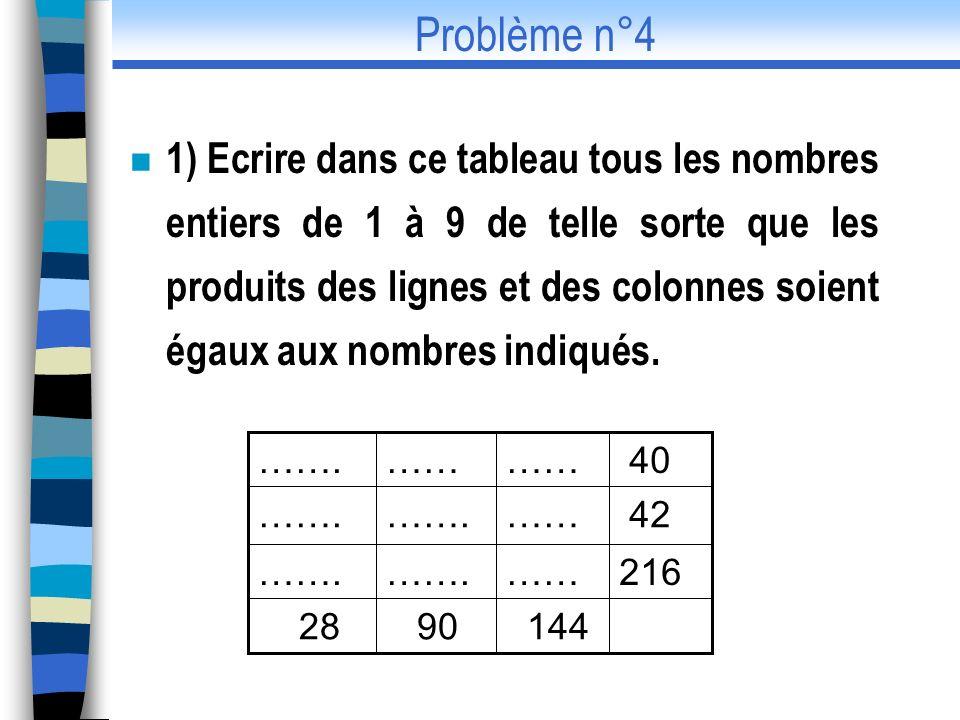 Problème n°4