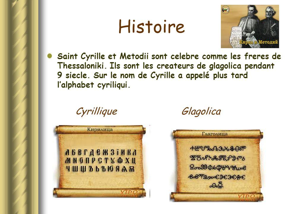 Histoire Cyrillique Glagolica