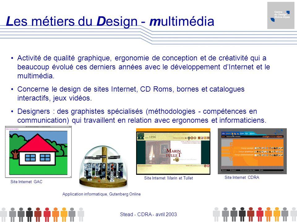 Les métiers du Design - multimédia