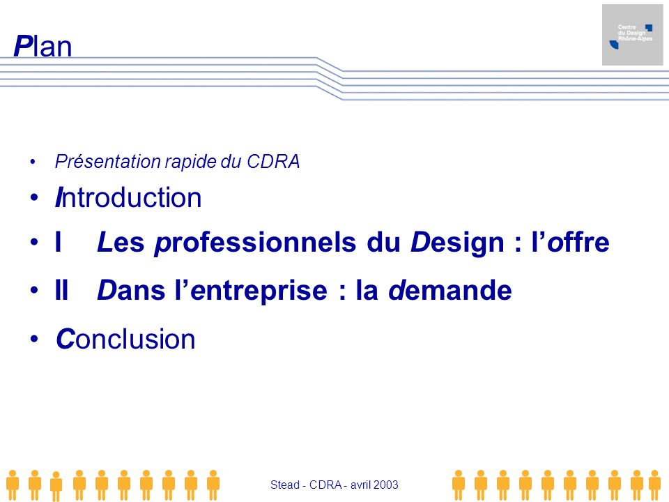 Plan Introduction I Les professionnels du Design : l'offre