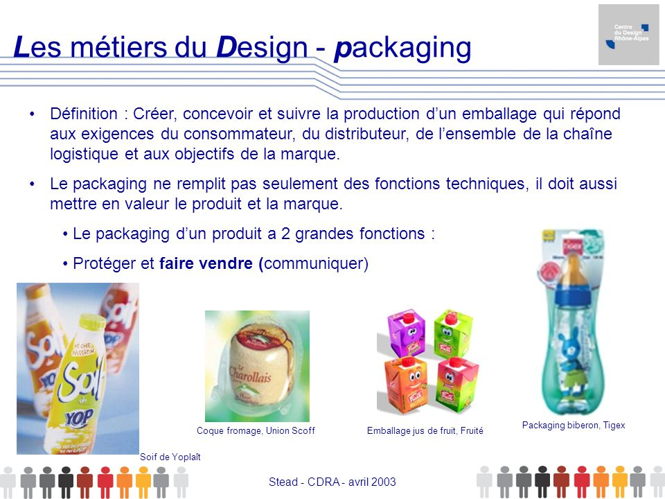 Les métiers du Design - packaging