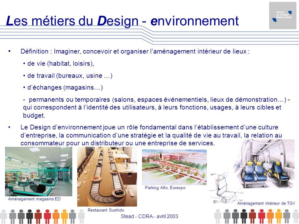 Les métiers du Design - environnement