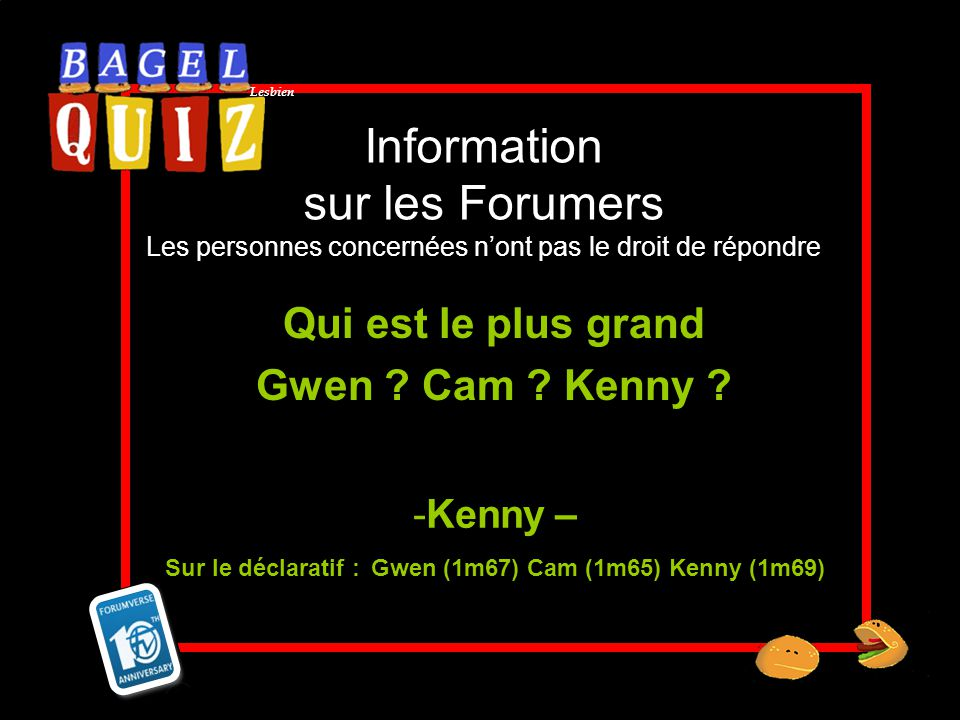 Qui est le plus grand Gwen Cam Kenny