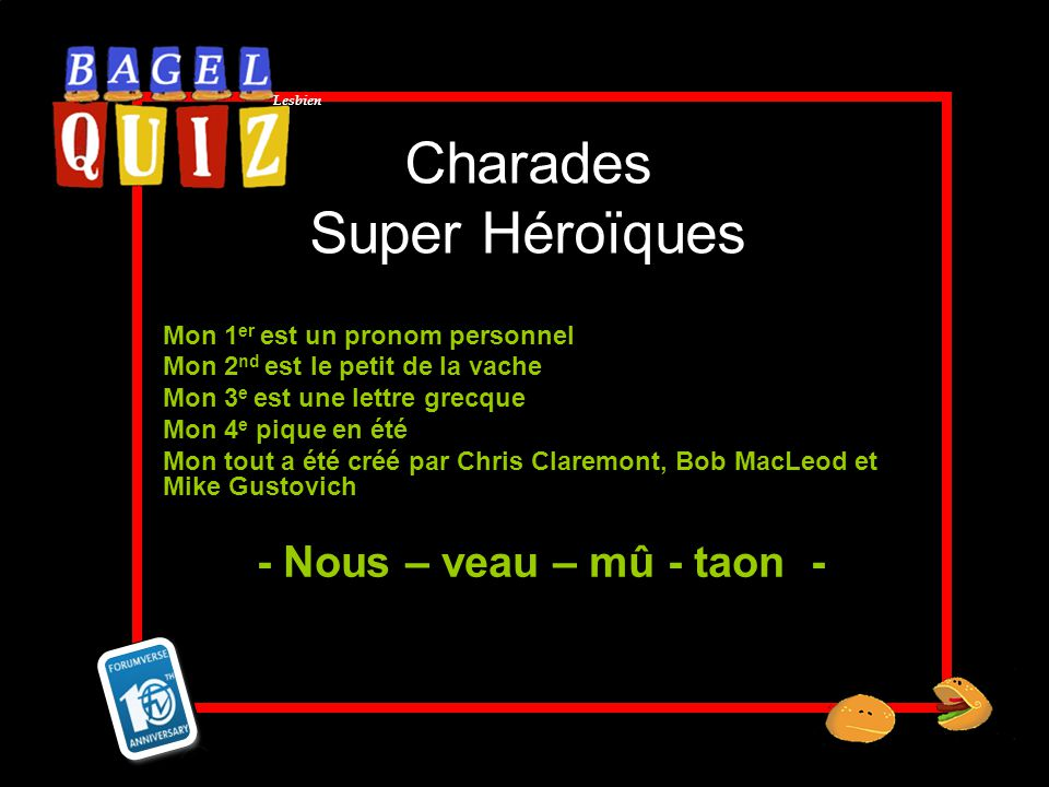 Charades Super Héroïques
