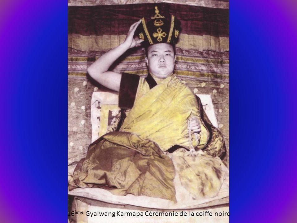 16ème Gyalwang Karmapa Cérémonie de la coiffe noire