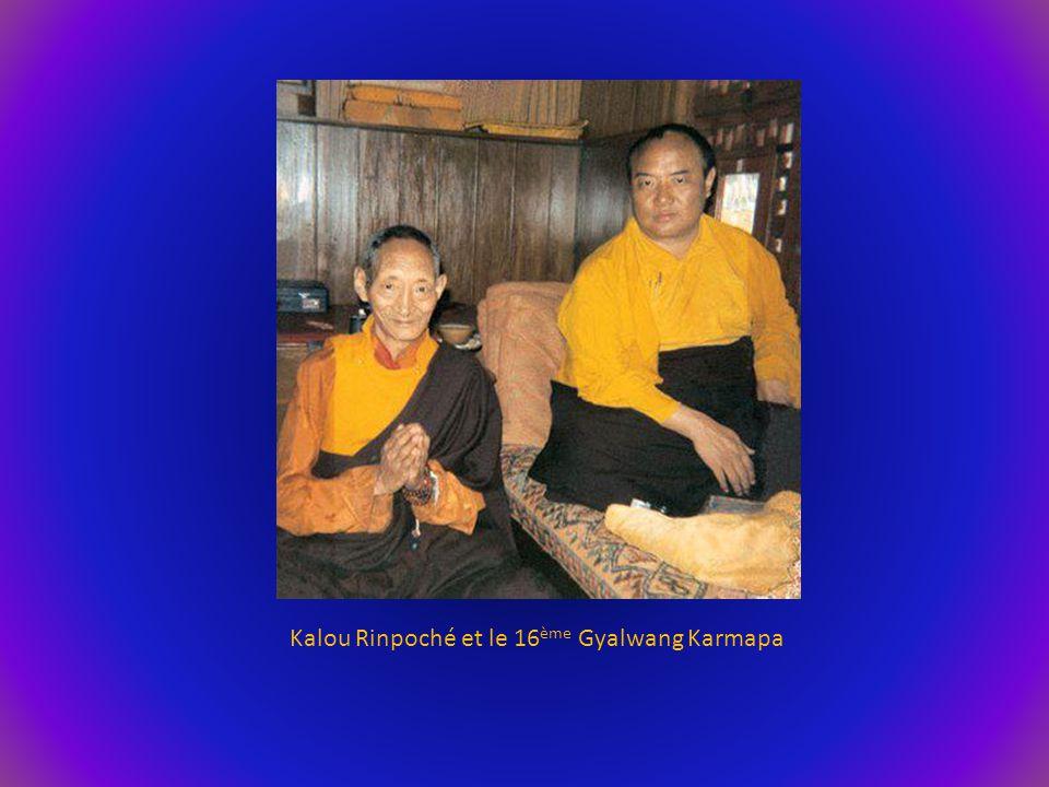 Kalou Rinpoché et le 16ème Gyalwang Karmapa
