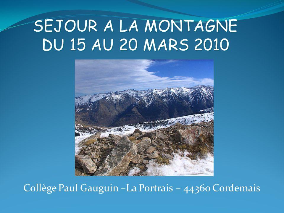 Collège Paul Gauguin –La Portrais – 44360 Cordemais