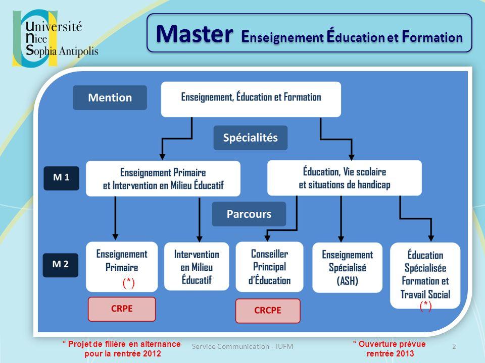 Master Enseignement Éducation et Formation