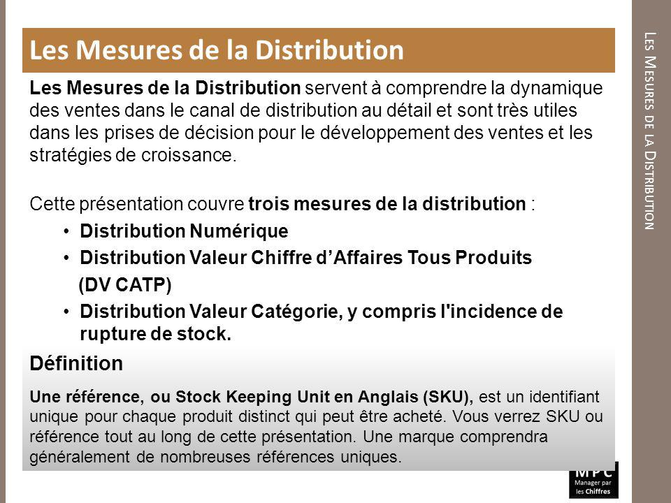 Les Mesures de la Distribution