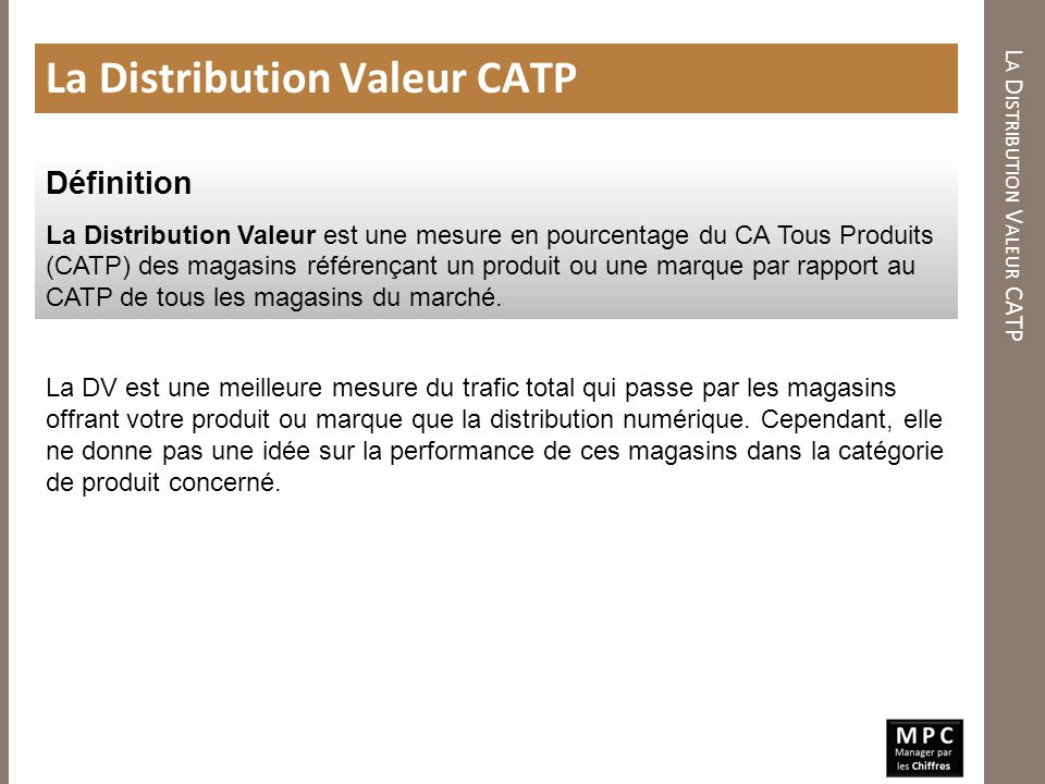La Distribution Valeur CATP