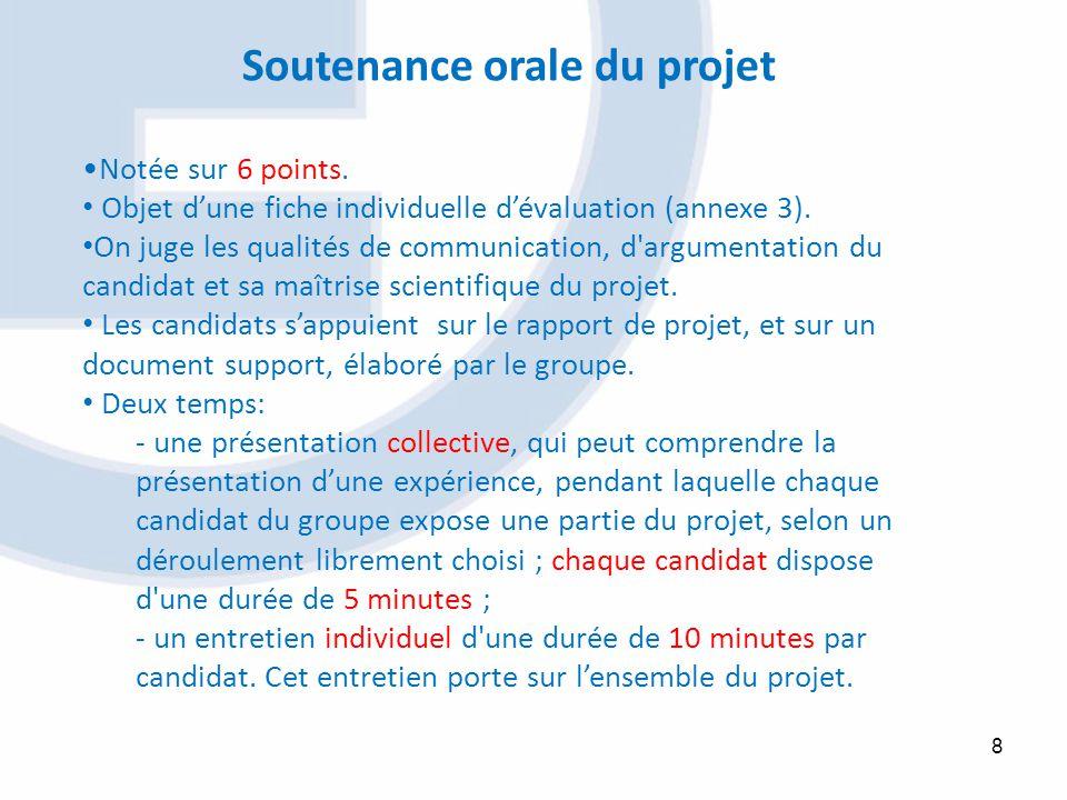 Soutenance orale du projet