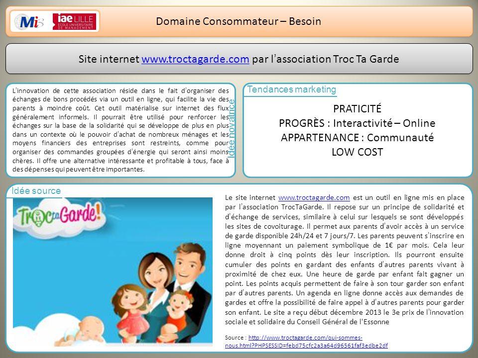 Domaine Consommateur – Besoin