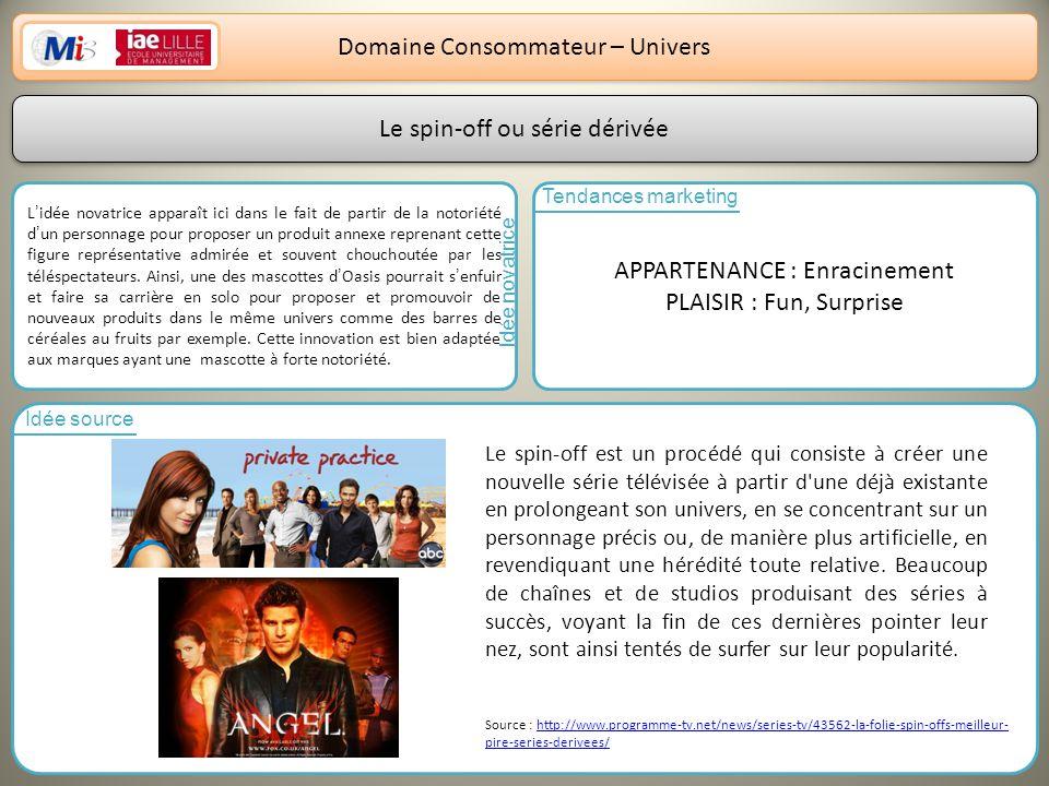 Domaine Consommateur – Univers