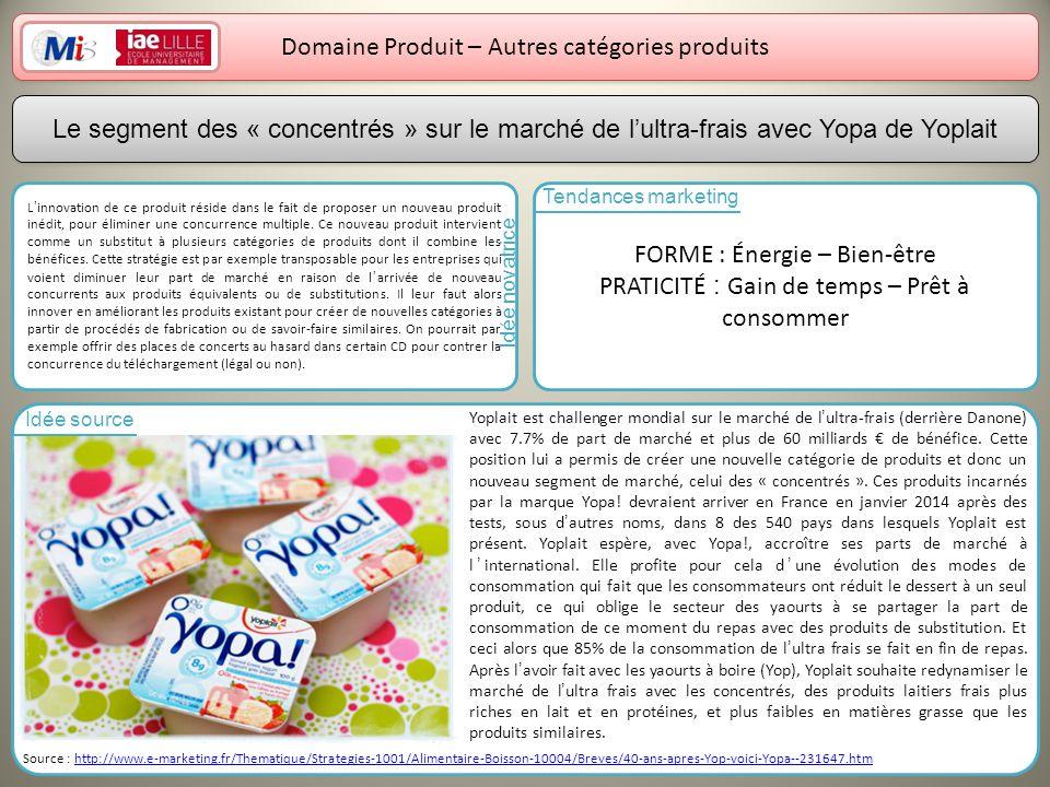 Domaine Produit – Autres catégories produits