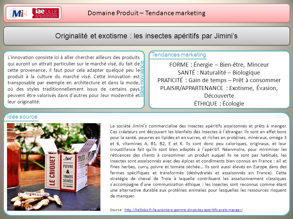Domaine Produit – Tendance marketing