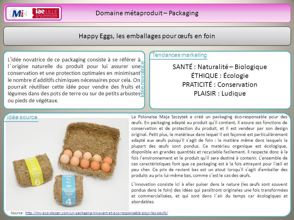 Domaine métaproduit – Packaging