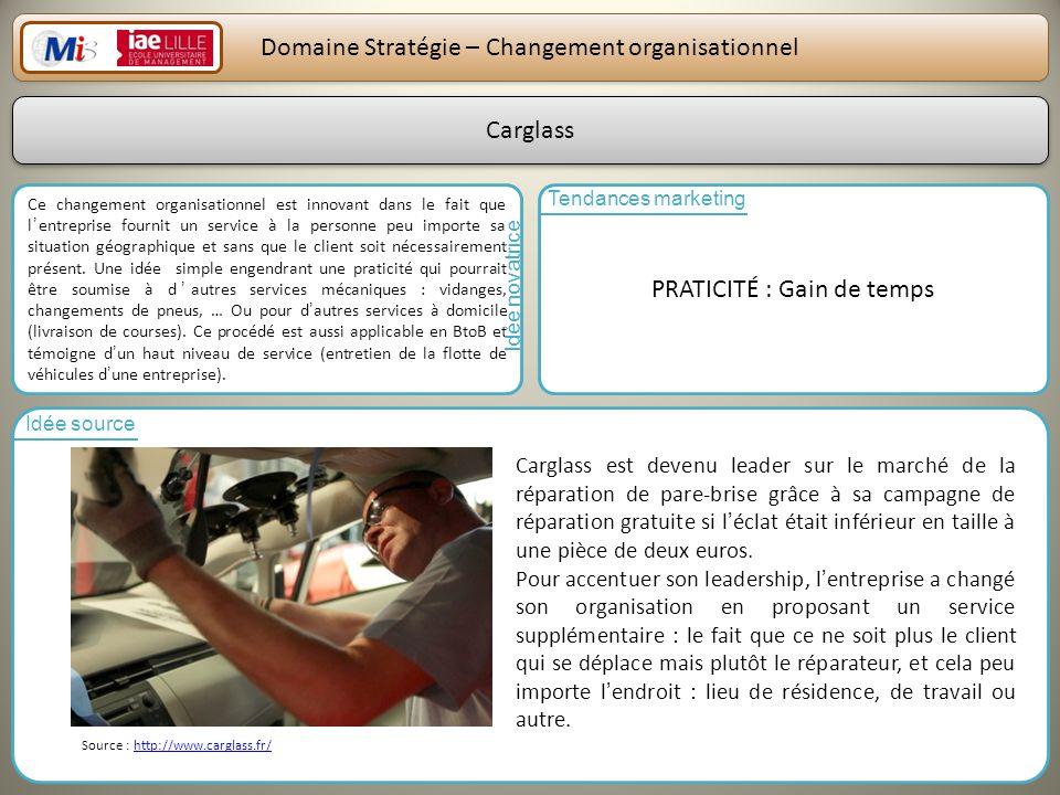 Domaine Stratégie – Changement organisationnel