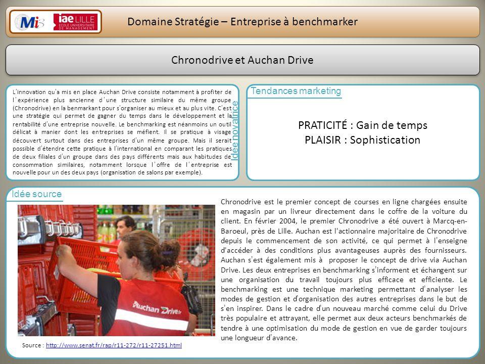 Domaine Stratégie – Entreprise à benchmarker