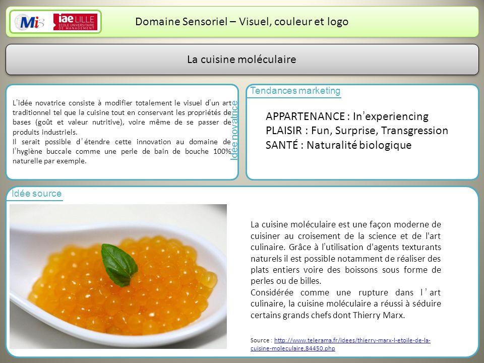 Domaine Sensoriel – Visuel, couleur et logo