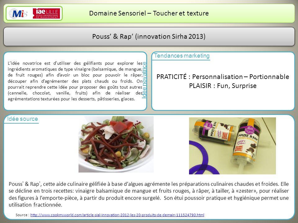 Domaine Sensoriel – Toucher et texture