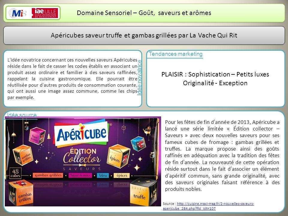 Domaine Sensoriel – Goût, saveurs et arômes
