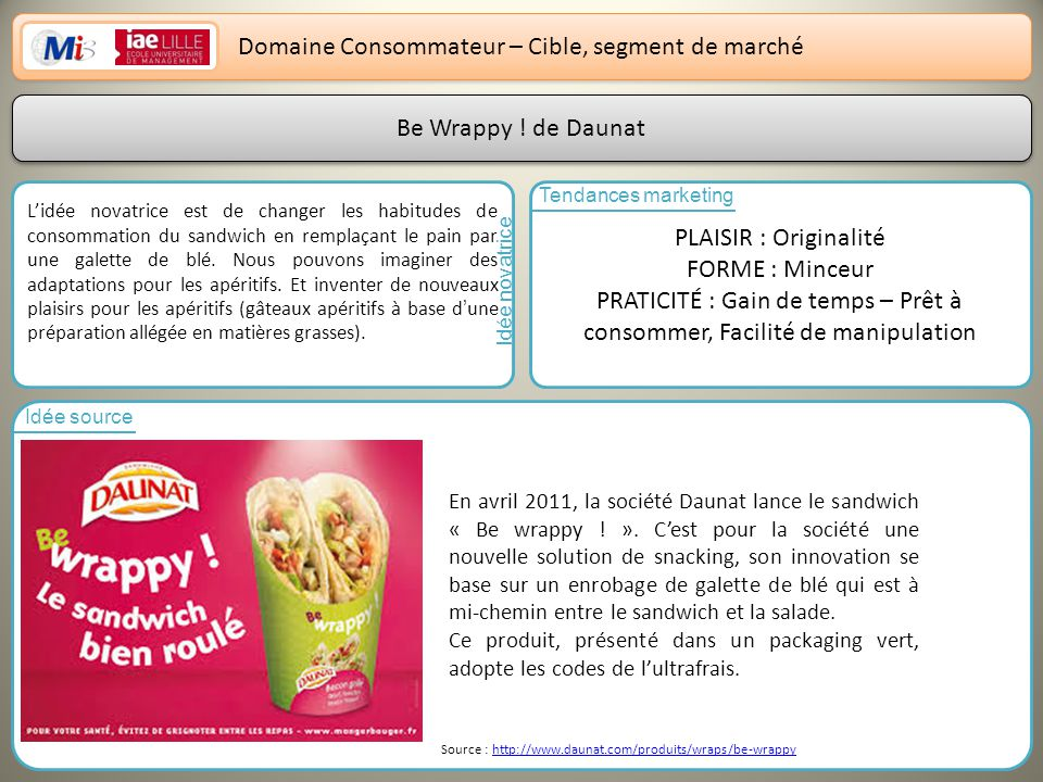 Domaine Consommateur – Cible, segment de marché
