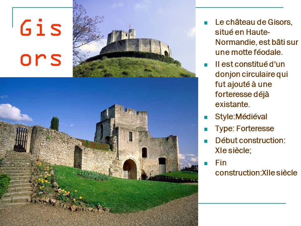Gisors Le château de Gisors, situé en Haute-Normandie, est bâti sur une motte féodale.