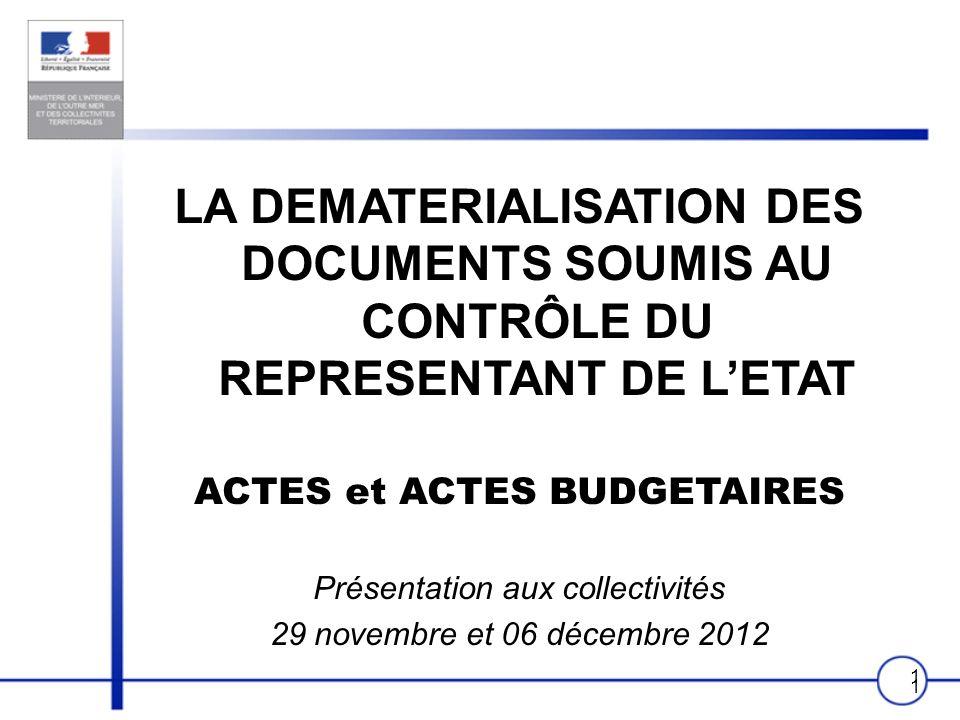 ACTES et ACTES BUDGETAIRES