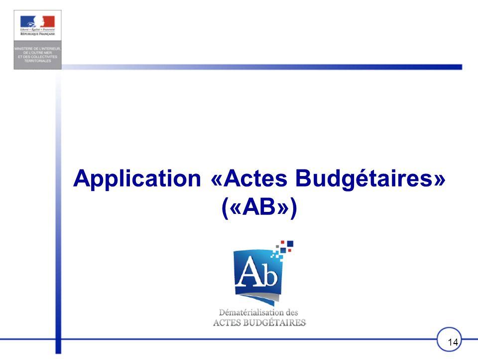 Application «Actes Budgétaires» («AB»)