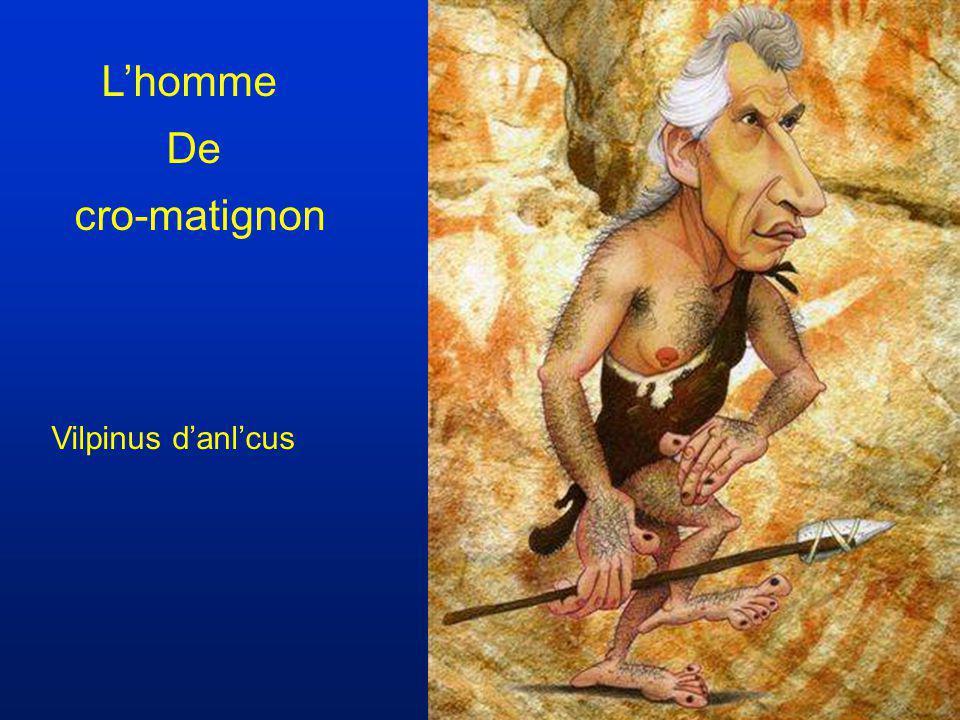 L'homme De cro-matignon Vilpinus d'anl'cus