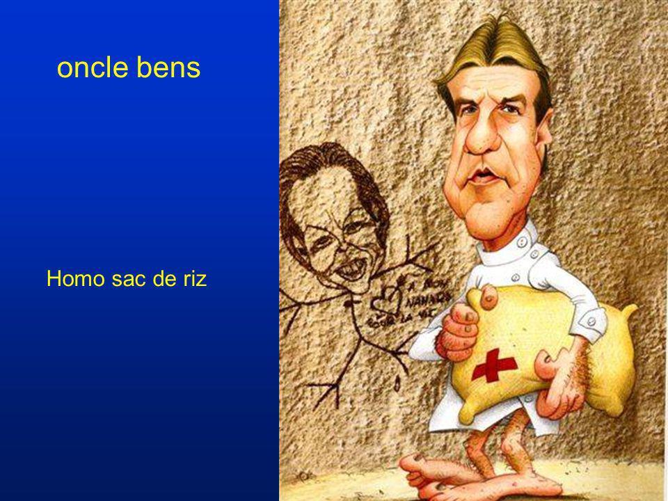 oncle bens Homo sac de riz